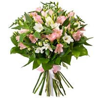 Bouquet of alstroemeria and freesia