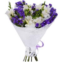 Bouquet of freesia and statice