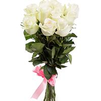Bouquet of 11 White Roses
