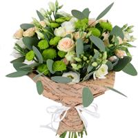 Bouquet of chrysanthemums and eustoma