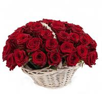 A wonderful basket of 51 red roses