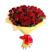 Bouquet of red shrub roses