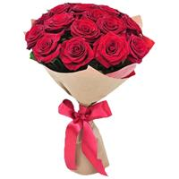Passionate bouquet of 15 red roses