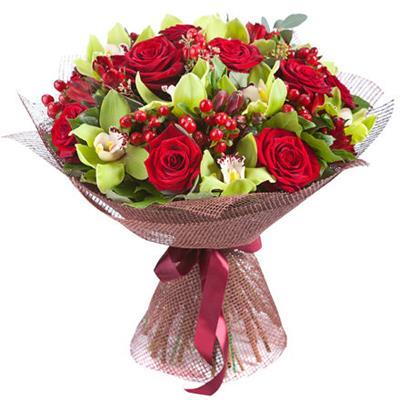 Заказать букет цветов из орхидей
