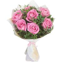Bouquet of 7 pink roses