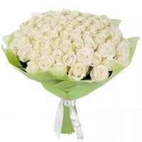 Bouquet of wonderful 101 white roses