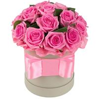 Bouquet of roses in box
