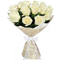 Gentle bouquet of white  roses