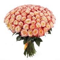 Bouquet of 101 roses imported