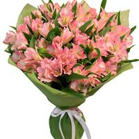 Bouquet of bright alstroemeria