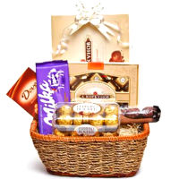 Gift basket of chocolates