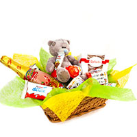 Basket with Kinder toy, Raffaello