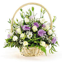 Basket with Eustoma