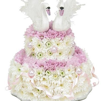 фото торт из цветов