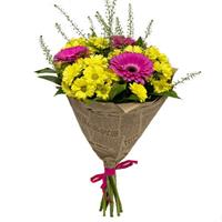 Bouquet with chrysanthemums and gerberas