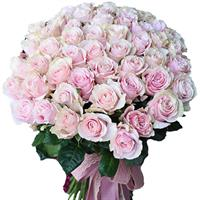 Bouquet of 41 pink roses