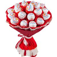Bouquet of chocolate eggs Kinder Joy