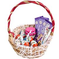 Gift basket with sweets