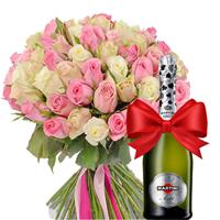 51 imported rose and champagne as a gift